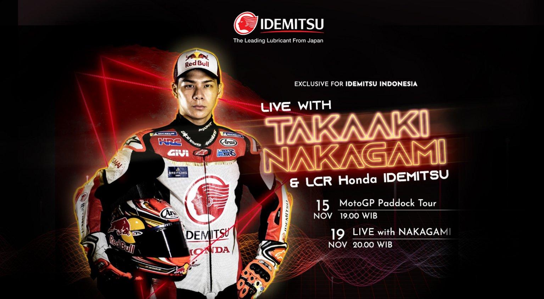 LIVE with TAKAAKI NAKAGAMI & LCR HONDA Team
